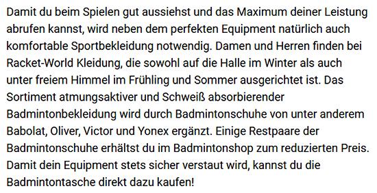 Badmintonschläger für Damen aus Hamburg