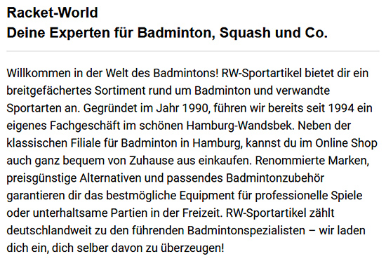 Badmintonschläger für Einsteiger aus  Neu Wulmstorf